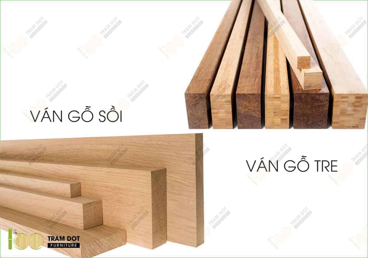 Tỷ trọng loại ván gỗ sồi và gỗ tre