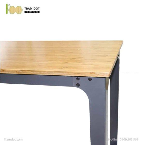 Mặt bàn tre ép chữ nhật cao cấp 60x120cm | TRAMDOT Furniture