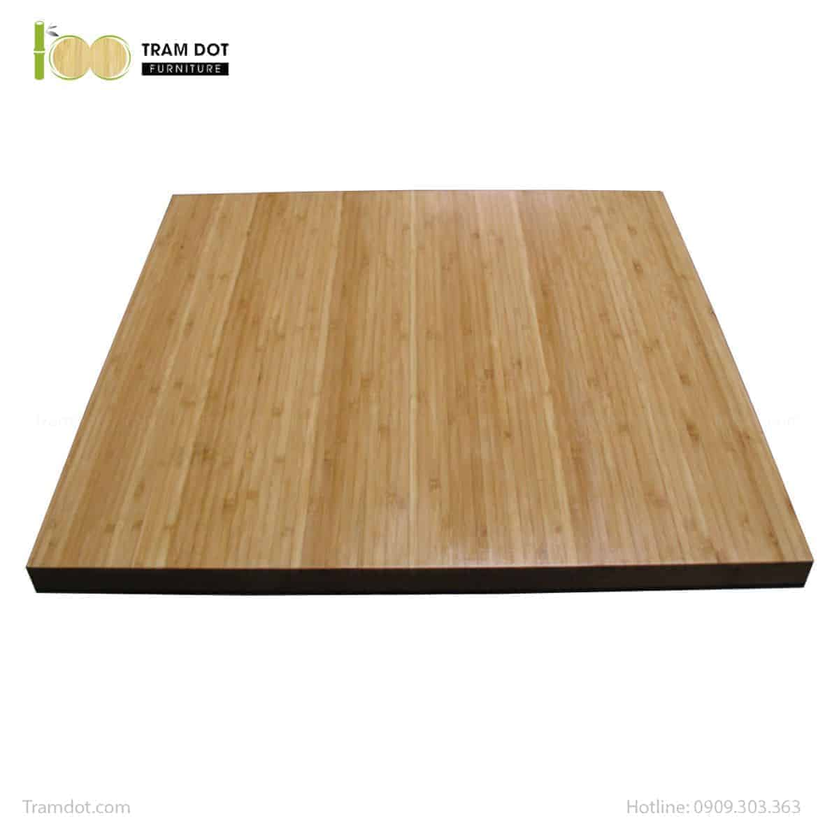 Mặt bàn tre ép hình vuông cao cấp 60x60cm   TRAMDOT Furniture