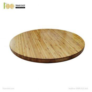 Mặt bàn tre ép tròn D50cm, dày 2.5cm | TRAMDOT Furniture