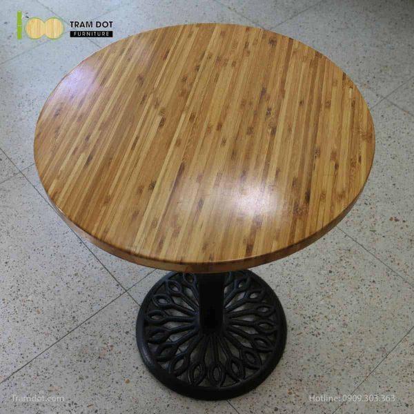 TRAMDOT – Mặt bàn tre ép tròn D50cm (2)