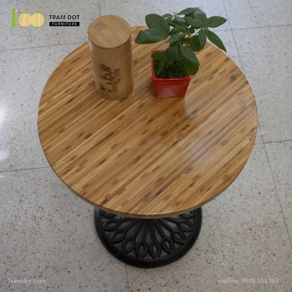 TRAMDOT – Mặt bàn tre ép tròn D50cm (3)