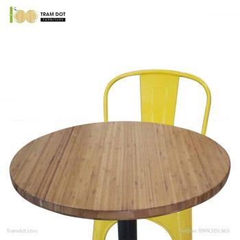 Mặt bàn tre ép tròn D60cm, dày 2.5cm | TRAMDOT Furniture