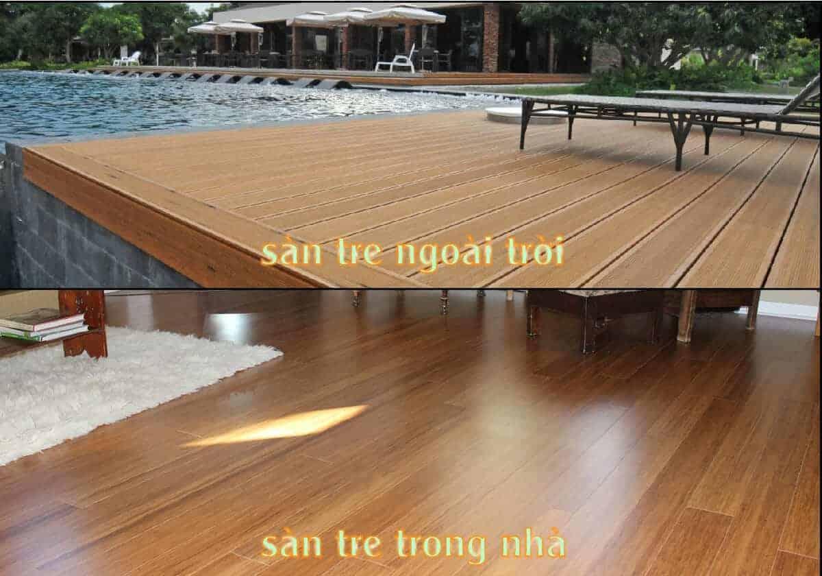 Tấm tre ép sử dụng làm sàn trong nhà và ngoài trời