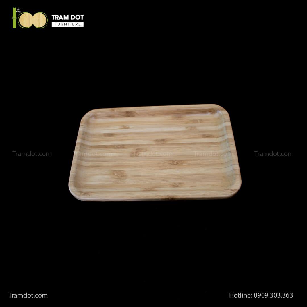Đĩa tre chữ nhật 30.5×20.5cm (HỘP 30 CÁI)   TRAMDOT Furniture