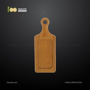 Đĩa tre chữ nhật có tay cầm 20.5x7cm TRAMDOT