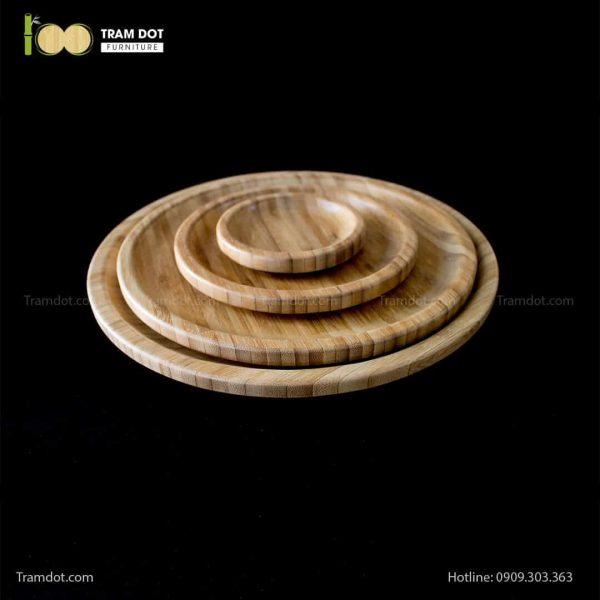Đĩa tre tròn 12.5×12.5cm (HỘP 30 CÁI) | TRAMDOT Furniture