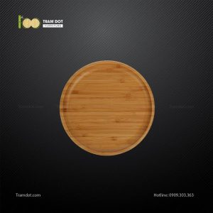 Đĩa tre tròn 12.5x12.5cm TRAMDOT
