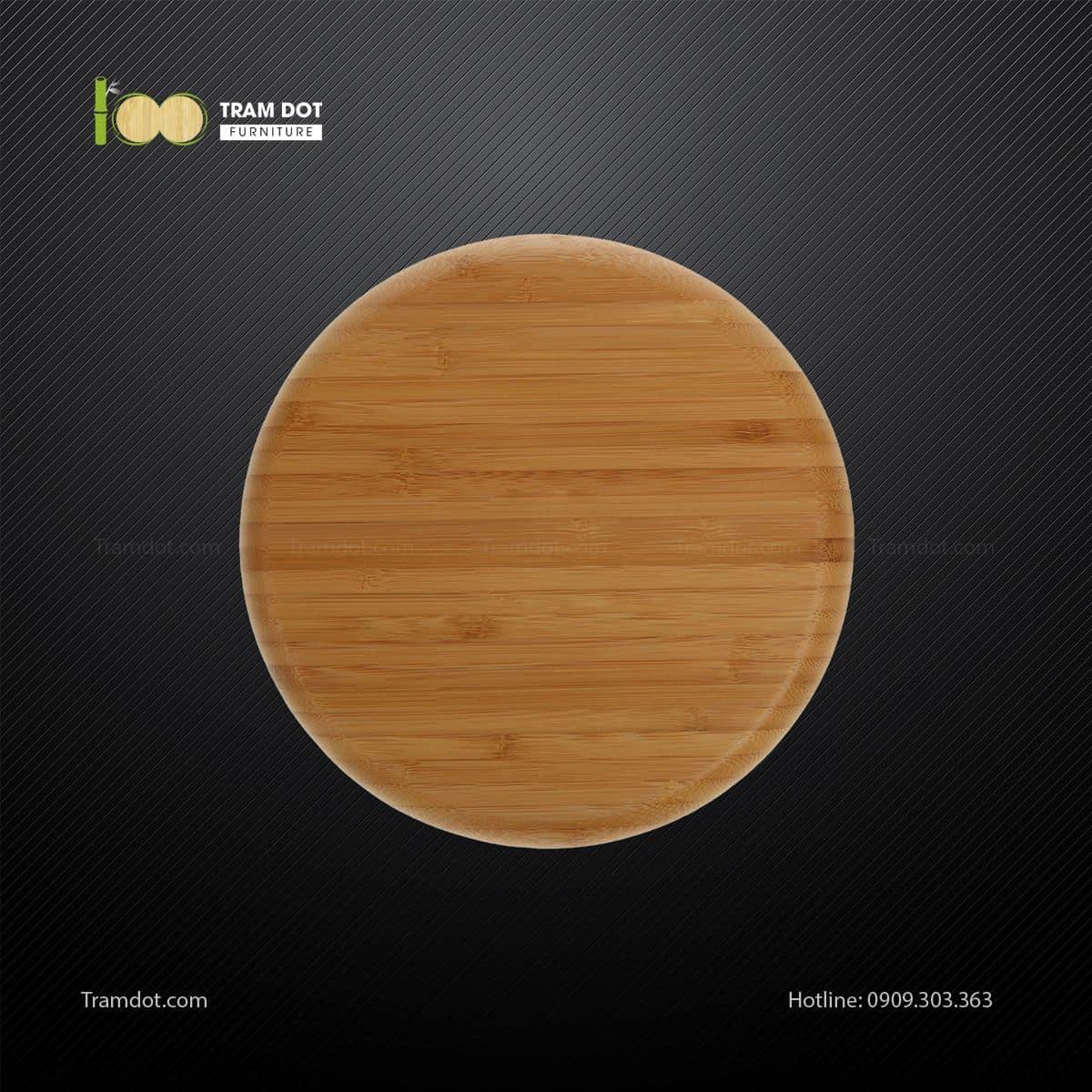 Đĩa tre tròn 20.5x20.5cm TRAMDOT