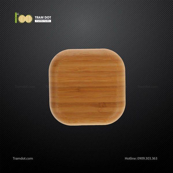 Đĩa tre vuông 12.5×12.5cm TRAMDOT