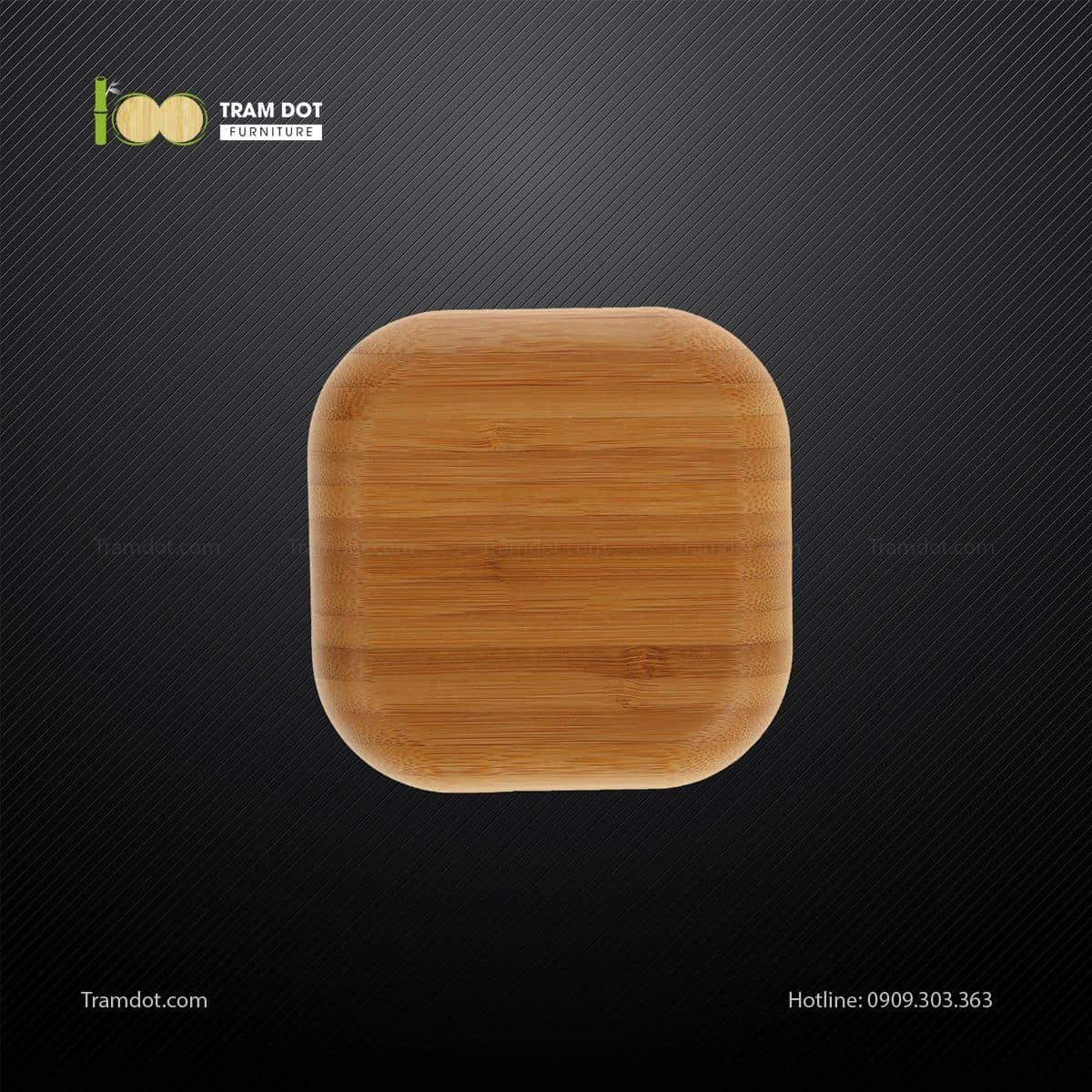 Đĩa tre vuông 12.5x12.5cm TRAMDOT