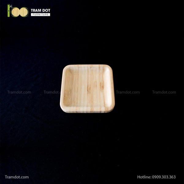 Đĩa tre vuông 12.5×12.5cm (HỘP 30 CÁI) | TRAMDOT Furniture