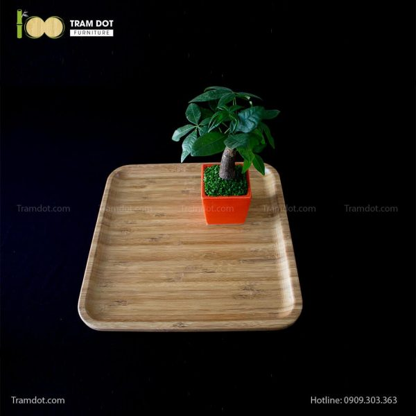 Đĩa tre vuông 35.5×35.5cm (HỘP 30 CÁI) | TRAMDOT Furniture