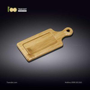 Đĩa tre hình chữ nhật có tay cầm 07×20.5cm (HỘP 30 CÁI) | TRAMDOT Furniture