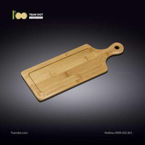 Đĩa tre chữ nhật có tay cầm 34x12cm (HỘP 30 CÁI) | TRAMDOT Furniture