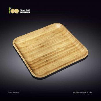 Đĩa tre vuông 30.5×30.5cm (HỘP 30 CÁI) | TRAMDOT Furniture