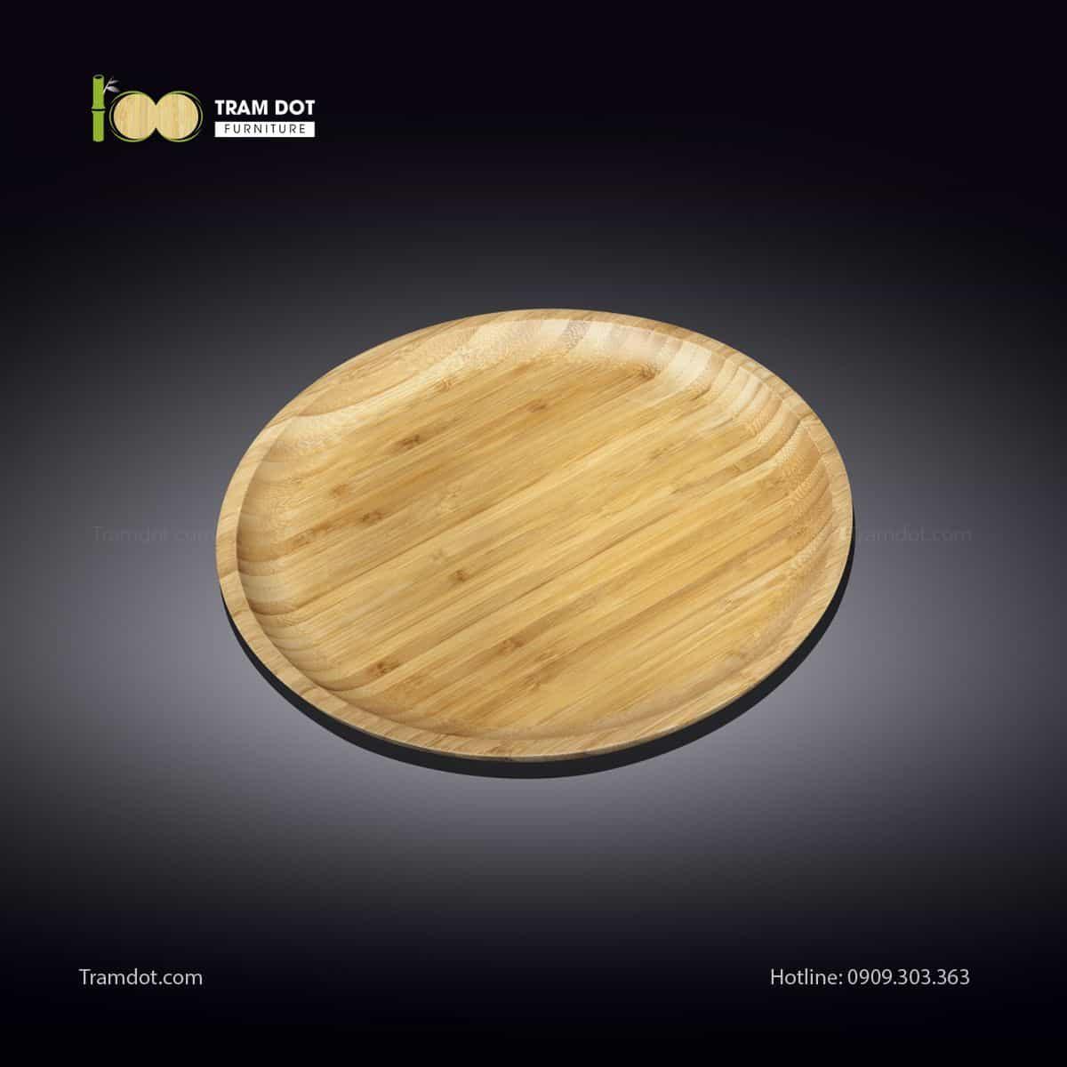 Đĩa tre tròn 20.5×20.5cm (HỘP 30 CÁI) | TRAMDOT Furniture