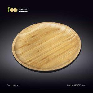 Đĩa tre tròn 30.5×30.5cm (HỘP 30 CÁI) | TRAMDOT Furniture
