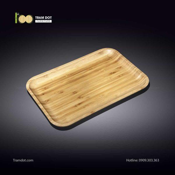 Đĩa tre chữ nhật 20.5x10cm (HỘP 30 CÁI) | TRAMDOT Furniture