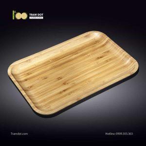 Đĩa tre chữ nhật 35.5×25.5cm (HỘP 30 CÁI) | TRAMDOT Furniture