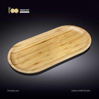 Đĩa tre oval 35.5×17.5cm (HỘP 30 CÁI) | TRAMDOT Furniture