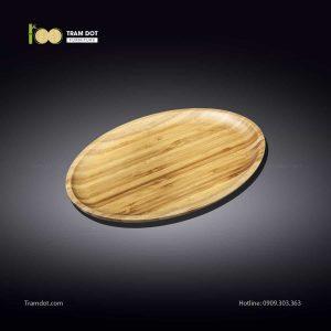 Đĩa tre elip 20.5×11.5cm (HỘP 30 CÁI) | TRAMDOT Furniture