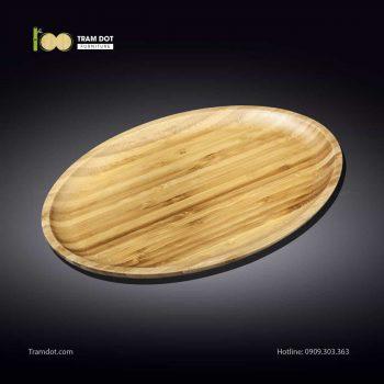 Đĩa tre elip 35.5×24.5cm (HỘP 30 CÁI) | TRAMDOT Furniture