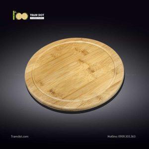 Khay tre phục vụ tròn 20.5×20.5cm (HỘP 30 CÁI) | TRAMDOT Furniture