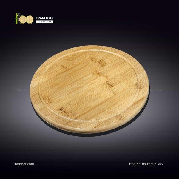 Khay tre phục vụ tròn 20.5×20.5cm (HỘP 30 CÁI)   TRAMDOT Furniture
