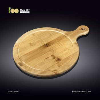 Khay tre phục vụ tròn có tay cầm 20.5×28.5cm (HỘP 30 CÁI) | TRAMDOT FurnitureKhay tre phục vụ tròn có tay cầm 20.5×28.5cm (HỘP 30 CÁI) | TRAMDOT Furniture
