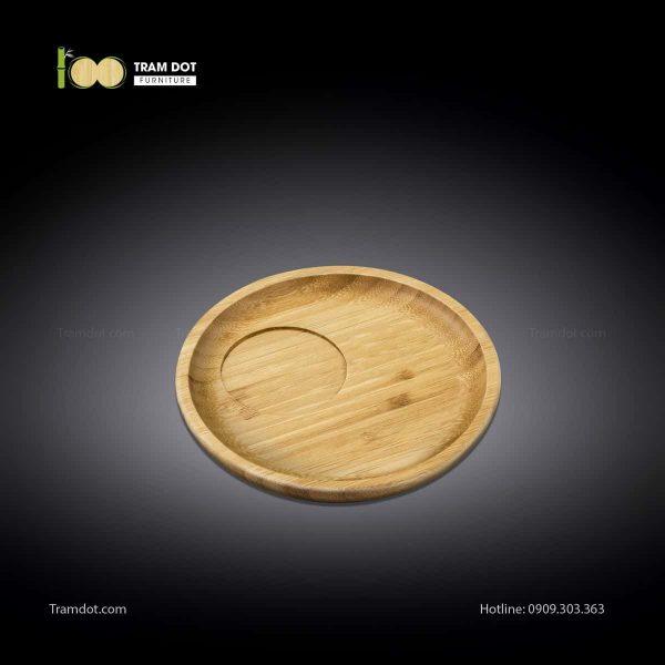 Đĩa tre phục vụ đồ uống tròn 20.5×20.5cm (HỘP 30 CÁI) | TRAMDOT Furniture