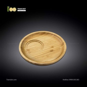 Đĩa tre phục vụ đồ uống tròn 30.5×30.5cm (HỘP 30 CÁI) | TRAMDOT Furniture