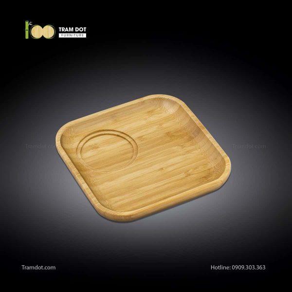 Đĩa tre phục vụ đồ uống vuông 30.5×30.5cm (HỘP 30 CÁI)   TRAMDOT Furniture