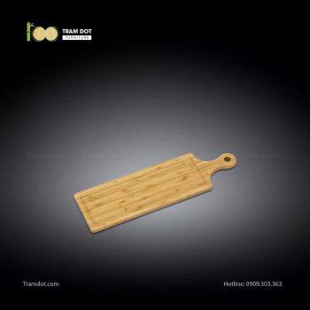 Khay tre phục vụ chữ nhật dài có tay cầm 50x15cm (HỘP 30 CÁI) | TRAMDOT Furniture