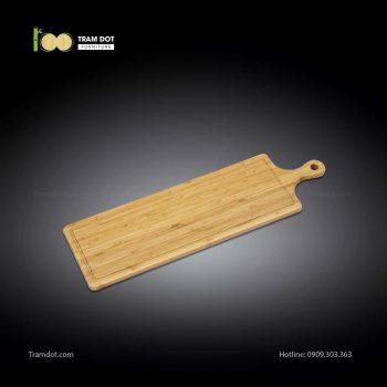 Khay tre phục vụ chữ nhật dài có tay cầm 66x20cm (HỘP 30 CÁI) | TRAMDOT Furniture