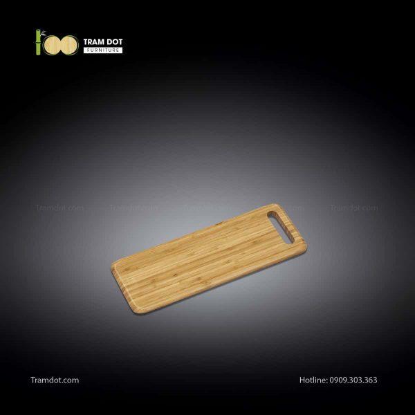 Khay tre phục vụ chữ nhật dài 40x15cm (HỘP 30 CÁI)   TRAMDOT Furniture