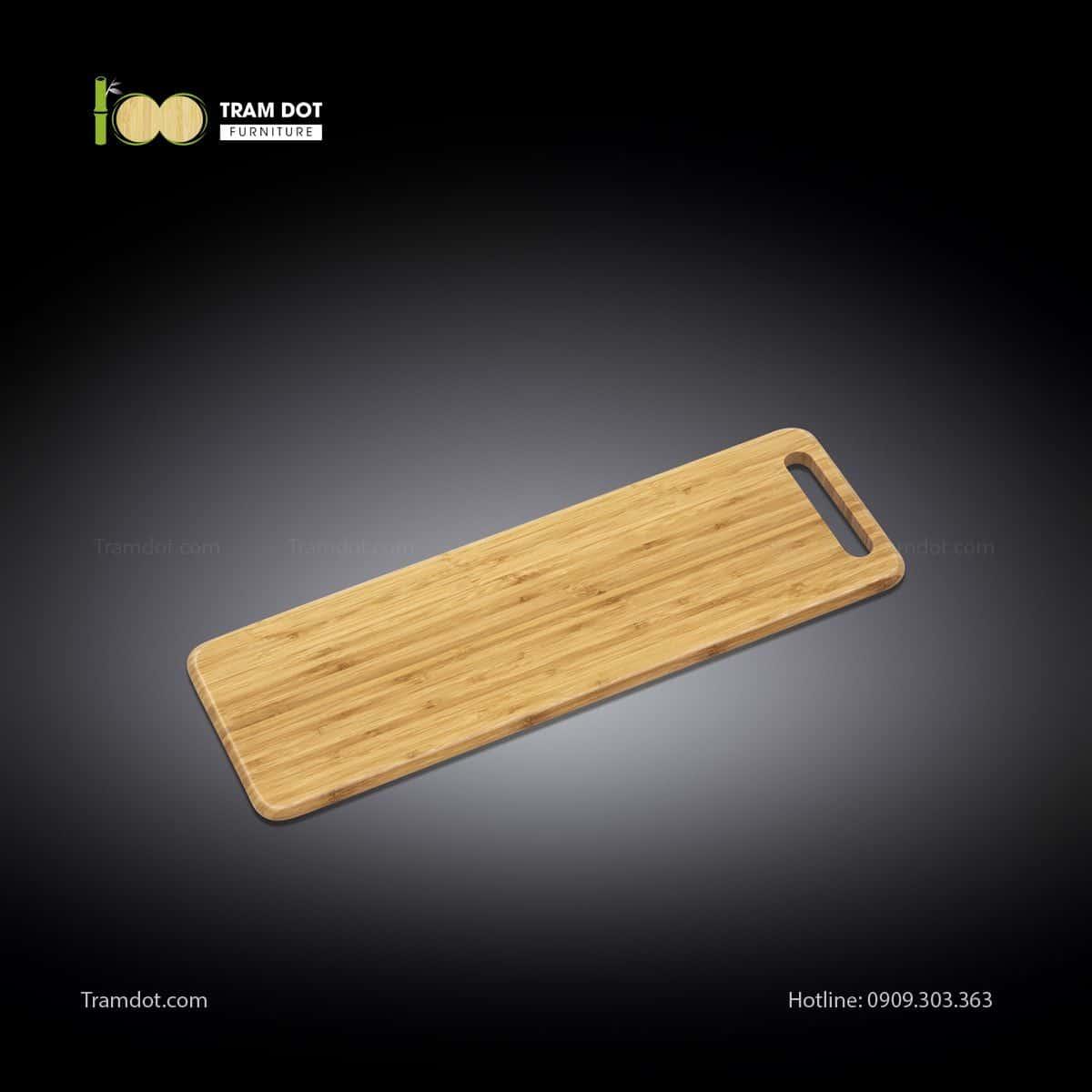 Khay tre phục vụ chữ nhật dài 60x20cm (HỘP 30 CÁI)   TRAMDOT Furniture