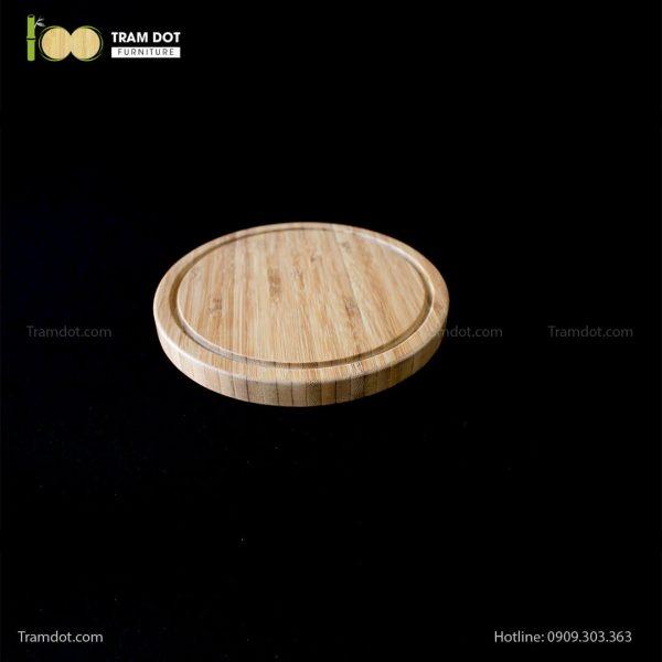 Khay tre phục vụ tròn 20.5×20.5cm   TRAMDOT Furniture