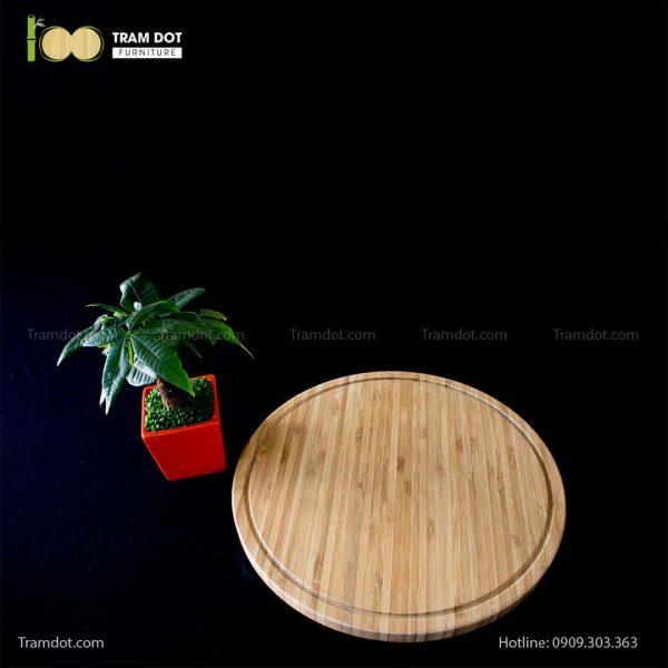 Khay tre phục vụ tròn 35.5×35.5cm (HỘP 30 CÁI) | TRAMDOT Furniture