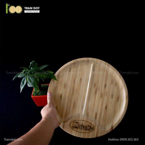 Đĩa tre Gogi tròn 30cm – tre ép đứng (1)