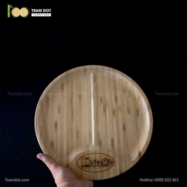 Đĩa tre Gogi tròn 30cm – tre ép đứng (2)