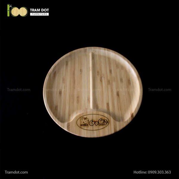 Đĩa tre Gogi tròn 30cm – tre ép đứng (3)