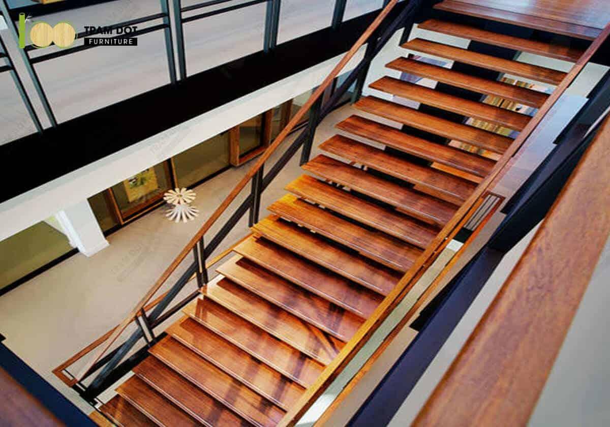 Sản phẩm từ ván gỗ tre ép khối như sàn nhà, bậc cầu thang, cột dầm nhà