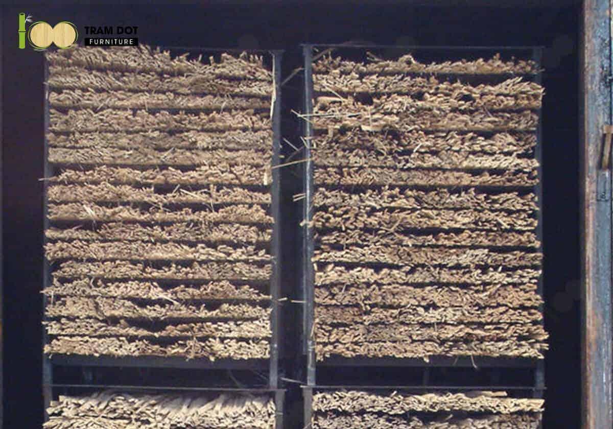 Thông qua nhiệt độ xử lý, màu sắc và độ ổn định của ván gỗ tre ép khối