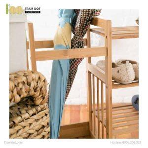 Kệ để ô lối ra vào kết hợp giá để giầy dép, tre ép, tự lắp ráp | TRAMDOT Furniture