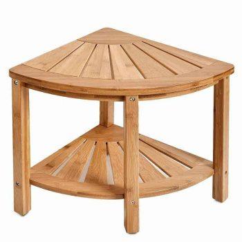 Ghế góc 02 tầng hình cánh cung phòng tắm, tre ép, tự lắp ráp | TRAMDOT Furniture