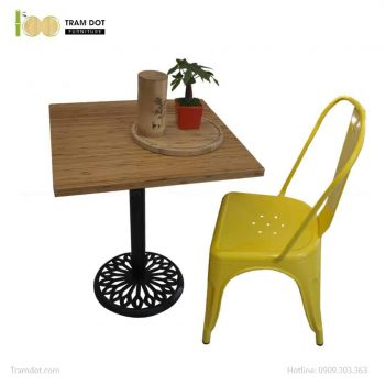 Bàn Cafe Highland chân gang đúc 60x60cm | TRAMDOT Furniture