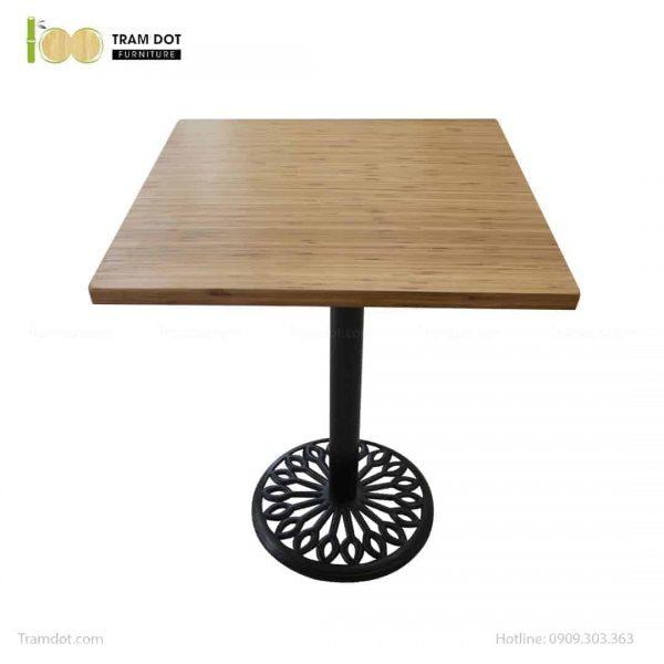 Bàn Cafe Highland chân gang đúc 60x60cm | TRAMDOT Furniture