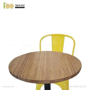 Bàn Cafe Highland chân gang đúc D50cm | TRAMDOT Furniture