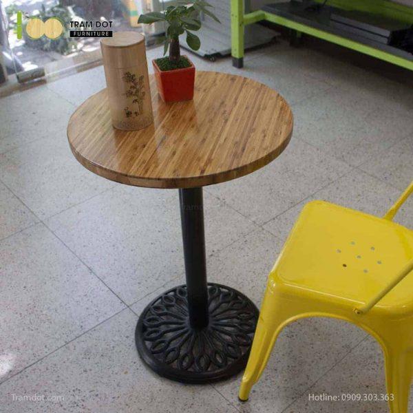 Bàn Cafe Highland chân gang đúc D50cm | TRAMDOT Furniture